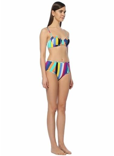 Diane Von Furstenberg Çizgili Yüksek Bel Bikini Altı Renkli